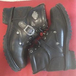 Harley-Davidson Leather Moto Boots Size 8